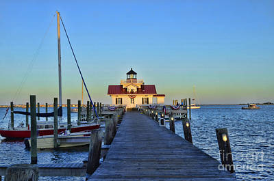 Photograph - Roanoke Marches Lighthouse by Allen Beatty
