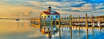 Roanoke Marsh Lighthouse Dawn Art Print