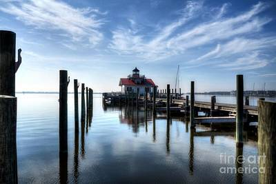 Photograph - Roanoke Marshes Light by Mel Steinhauer