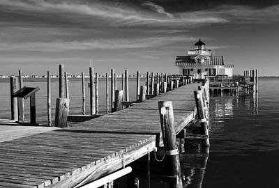Photograph - Roanoke Marshes Lighthouse Img 3919 by Greg Kluempers