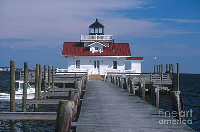 Roanoke Marshes Lighthouse, Nc Art Print by Bruce Roberts