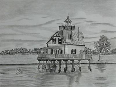 Roanoke River Lighthouse Art Print