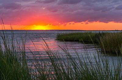 Roanoke Sound Sunset Art Print by Gregg Southard