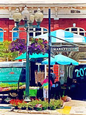 Roanoke Va - Market Street Print by Susan Savad