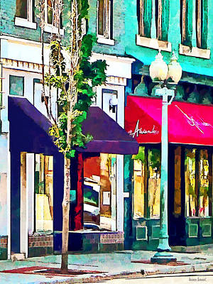 Awning Photograph - Roanoke Va Street With Restaurant by Susan Savad