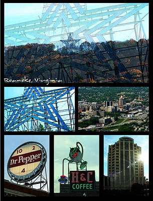 Photograph - Roanoke Valley Collage by Kara  Stewart