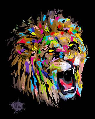 Lion Digital Art - Roar by Anthony Mwangi