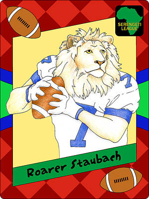 Digital Art - Roarer Staubach by Alison Stein