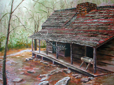 Painting - Roaring Fork Cabin by Sherry Robinson