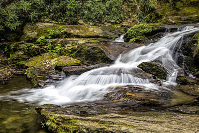 Photograph - Roaring Fork Falls 01 Detail by Jim Dollar