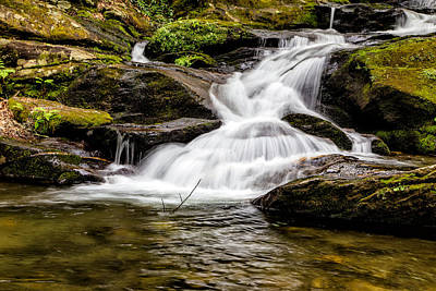 Photograph - Roaring Fork Falls 04 Detail by Jim Dollar