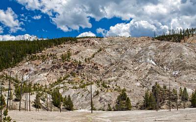 Photograph - Roaring Mountain Yellowstone by John M Bailey