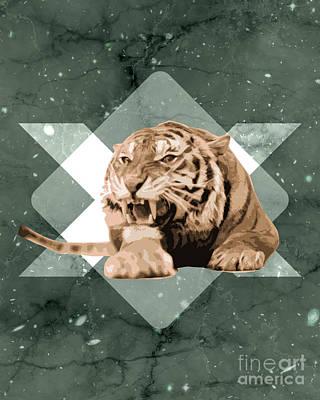 Roaring Tiger Art Print by Pati Photography