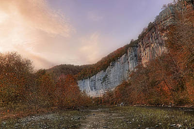 Photograph - Roark Bluff Sunset - Autumn - Arkansas by Jason Politte