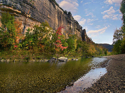 Water Buffalo Wall Art - Photograph - Roark Bluffs, Buffalo National River by Tim Fitzharris