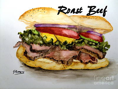 Painting - Roast Beef by Carol Grimes