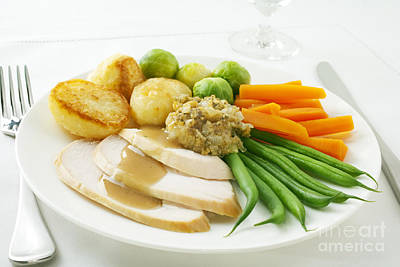 Potato Photograph - Roast Chicken Dinner by Colin and Linda McKie