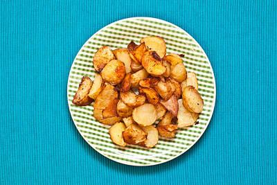Potato Chips Photograph - Roast Potatoes by Tom Gowanlock