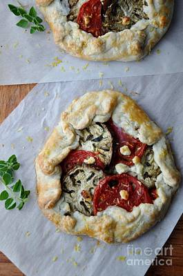 Photograph - Roasted Eggplant And Heirloom Tomato Galette by Maureen Cavanaugh Berry