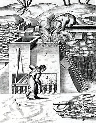 Roasting Gold Ore To Recover The Metal Art Print by Universal History Archive/uig