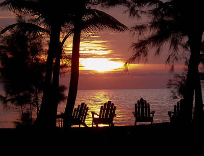 Photograph - Roatan Sunrise by Haren Images- Kriss Haren