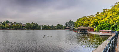 Beers On Tap - Roath Park Panorama 1 by Steve Purnell