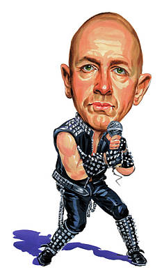 Priests Painting - Rob Halford by Art