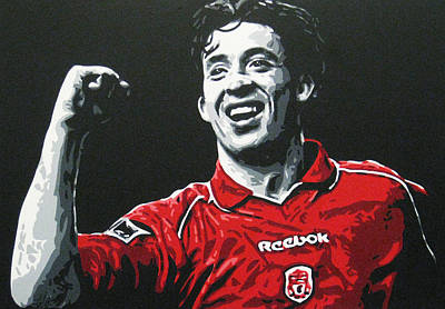 Painting - Robbie Fowler - Liverpool Fc by Geo Thomson