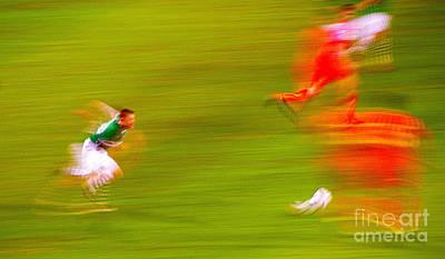 Robbie Keane Ireland Soccer Abstarct Art Print by Patrick Dinneen