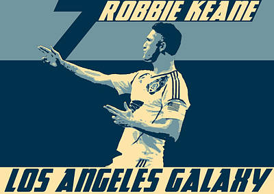 Athletic Digital Art - Robbie Keane by Taylan Apukovska