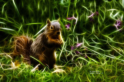 Digital Art - Robbie The Squirrel -0146 - F by James Ahn
