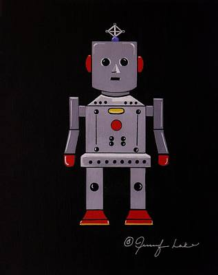 Painting - Robby The Robot by Jennifer Lake
