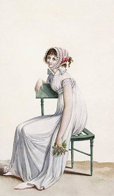 Chair Drawing - Robe Chemise, Illustration From Journal by Pierre de La Mesangere