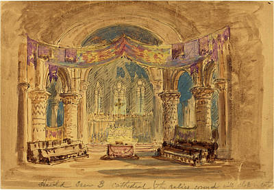 Relic Drawing - Robert Caney, British 1847-1911, Harold Scene 3 Cathedral by Litz Collection