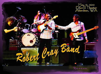 Robert Cray Band Art Print by Sadie Reneau