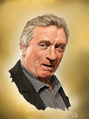 Fan Art Painting - Robert Deniro by Brien Miller