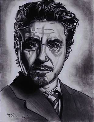 Robert Downey Jr Drawing Drawing - Robert Downey Jr by Joseph Unruh
