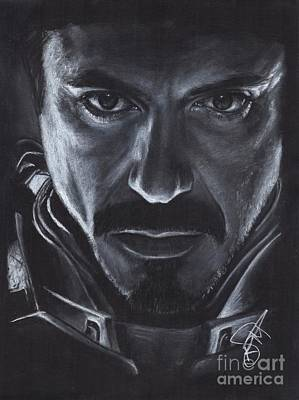 Stark Drawing - Robert Downey Jr.  by Rosalinda Markle
