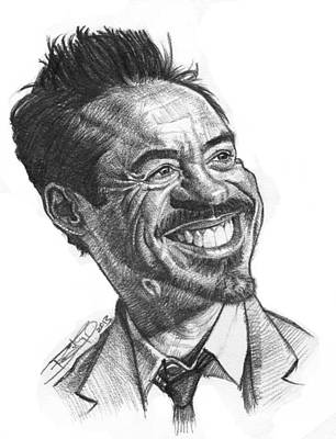 Robert Downey Jr Drawing Drawing - Robert Downey Jr. by Sri Priyatham