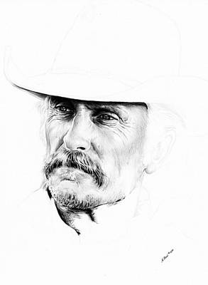 Texas Drawing - Robert Duvall  1st Draft by Andrew Read