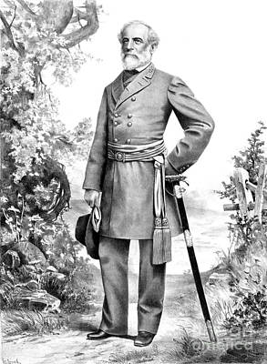 Army Of The Potomac Photograph - Robert E. Lee, Confederate Army by Photo Researchers