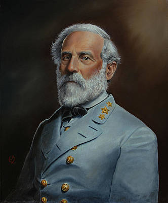Civil Painting - Robert E. Lee by Glenn Beasley
