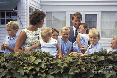 Robert F. Kennedy And Family 1959 Art Print by The Harrington Collection
