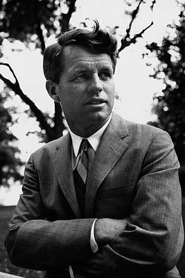 Robert F. Kennedy Wearing A Suit Print by Pat Mccallum
