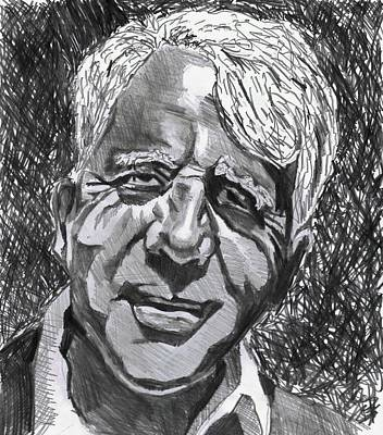 Drawing - Robert Frost by Timothy Fleming