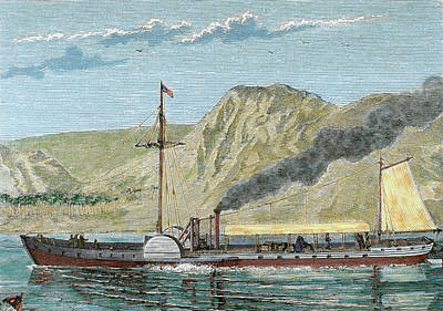 Steamboat Photograph - Robert Fulton's Steamboat by Prisma Archivo