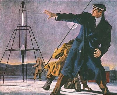 Robert Goddard (1882-1945) Art Print by Granger