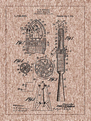 Photograph - Robert Goddard's 1914 Rocket Patent by Barry Jones