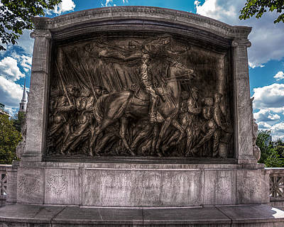 Robert Gould Shaw Memorial On Boston Common Art Print