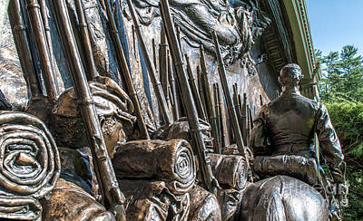 Volunteer Infantry Photograph - Robert Gould Shaw Memorial by Scott Thorp